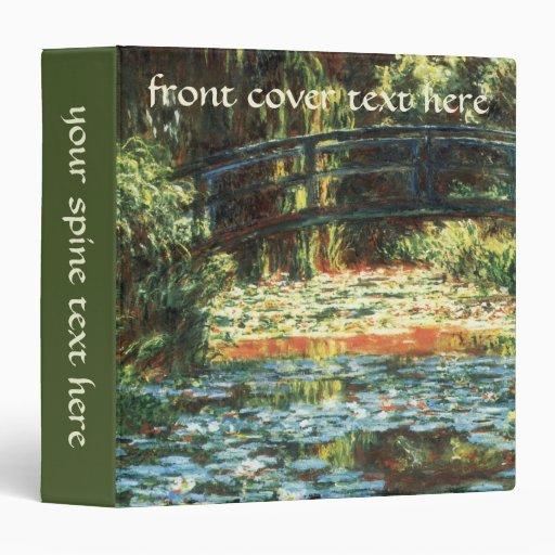 Bridge Over The Water Lily Pond by Claude Monet Vinyl Binders
