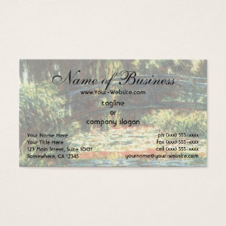 Bridge Over The Water Lily Pond by Claude Monet Business Card