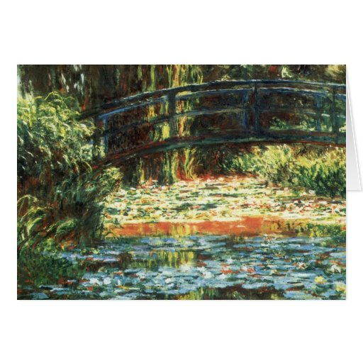 Bridge Over The Water Lily Pond by Claude Monet Greeting Card
