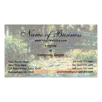 Bridge Over The Water Lily Pond by Claude Monet Double-Sided Standard Business Cards (Pack Of 100)