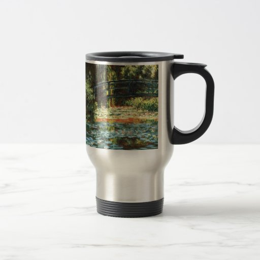 Bridge Over The Water Lily Pond by Claude Monet 15 Oz Stainless Steel Travel Mug