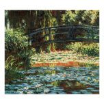 Bridge Over The Water Lily Pond by Claude Monet Print