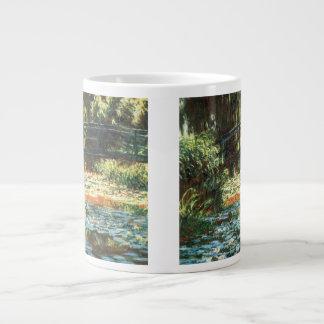 Bridge Over The Water Lily Pond by Claude Monet Jumbo Mugs