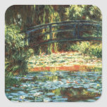 Bridge Over The Water Lily Pond by Claude Monet Square Sticker