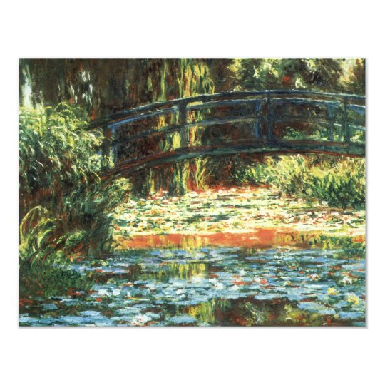 Bridge Over the Waterlily Pond by Claude Monet Card