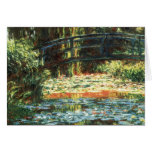 Bridge Over the Waterlily Pond by Claude Monet Greeting Card