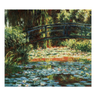 Bridge Over the Waterlily Pond by Claude Monet Poster