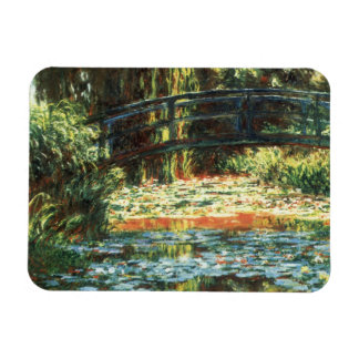 Bridge Over the Waterlily Pond by Claude Monet Rectangular Photo Magnet