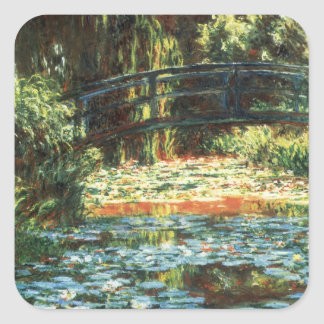 Bridge Over the Waterlily Pond by Claude Monet Square Sticker