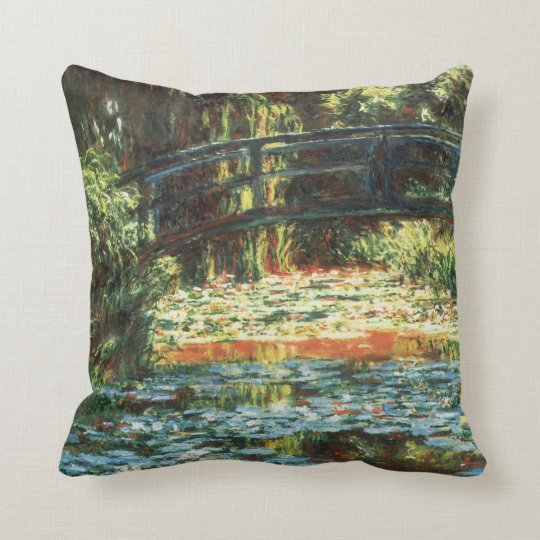 Bridge Over the Waterlily Pond by Claude Monet Throw Pillow