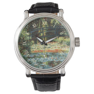 Bridge Over the Waterlily Pond by Claude Monet Wrist Watch