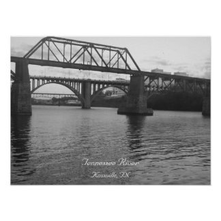 Bridge Over TN River Poster