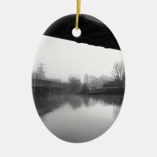 Bridge over troubled water ceramic ornament