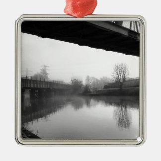 Bridge over troubled water metal ornament