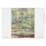 Bridge Over Water Lilies Pond - Claude Monet Card