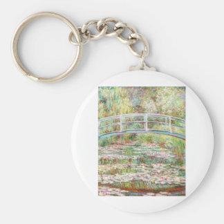 Bridge Over Water Lilies Pond - Claude Monet Keychain