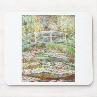 Bridge Over Water Lilies Pond - Claude Monet Mouse Pad