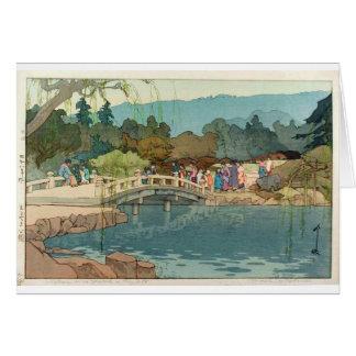 Bridge Over Water Vintage Japanese Art Ukiyo-E Card