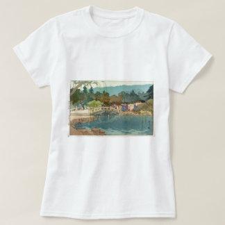 Bridge Over Water Vintage Japanese Art Ukiyo-E T-Shirt