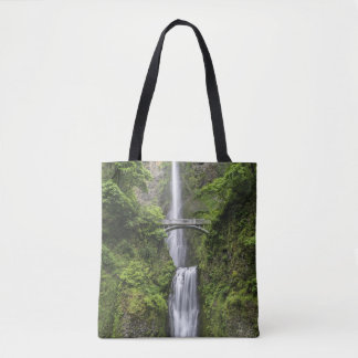 Bridge over Waterfall Landscape Tote Bag