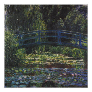 Bridge Over Waterlily Pond by Claude Monet Poster