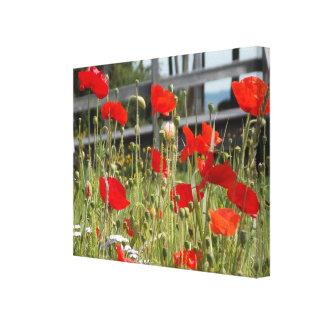 Bridge Over Wild Flowers Canvas Print