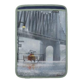Bridge painting,Raining on the bridge MacBook Air Sleeves