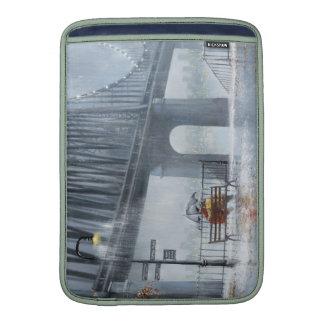 Bridge painting,Raining on the bridge MacBook Sleeves