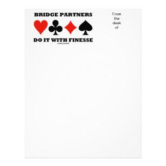 Bridge Partners Do It With Finesse (Card Suits) Letterhead
