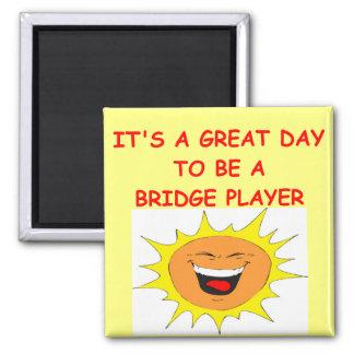 BRIDGE player 2 Inch Square Magnet