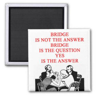 bridge player design 2 inch square magnet