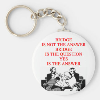 bridge player design basic round button keychain