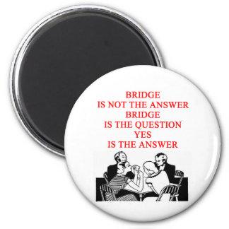 bridge player design 2 inch round magnet