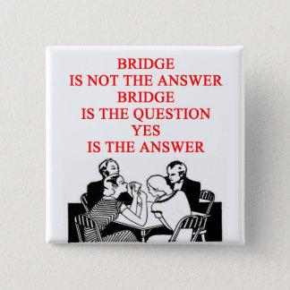 bridge player design pinback button