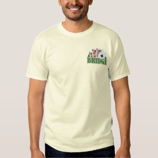 Bridge Player Embroidered T-Shirt
