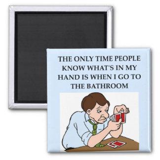 bridge player joke 2 inch square magnet
