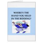 bridge player joke greeting card