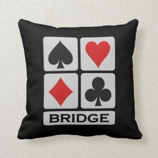 Bridge Player throw pillow