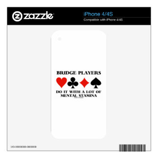 Bridge Players Do It With A Lot Of Mental Stamina Decals For iPhone 4