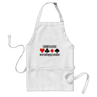 Bridge Players Do It With Double Squeezes Adult Apron