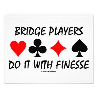Bridge Players Do It With Finesse Bridge Humor Invites