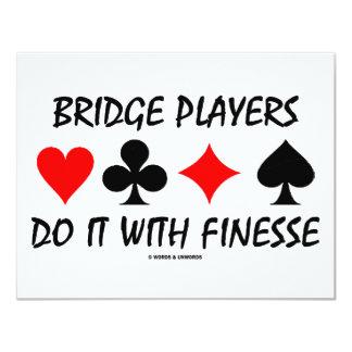 Bridge Players Do It With Finesse (Bridge Humor) 4.25x5.5 Paper Invitation Card