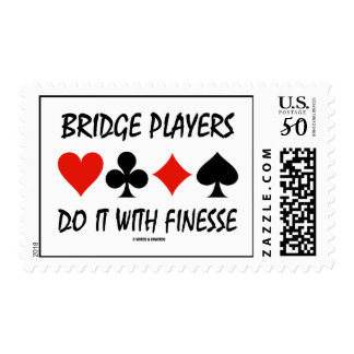 Bridge Players Do It With Finesse Four Card Suits Postage