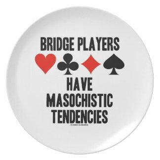 Bridge Players Have Masochistic Tendencies Dinner Plate