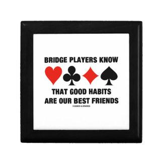 Bridge Players Know Good Habits Best Friends Jewelry Box