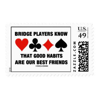 Bridge Players Know Good Habits Our Best Friends Postage