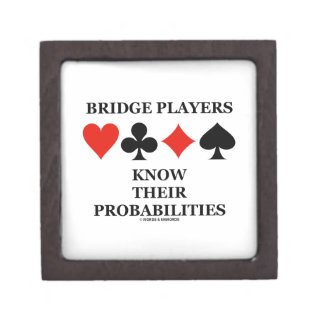 Bridge Players Know Their Probabilities Card Suits Jewelry Box
