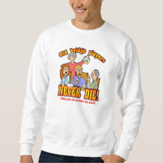 Bridge Players Pullover Sweatshirts