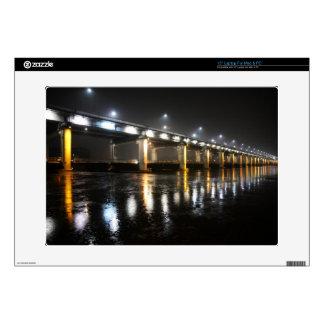 "Bridge, Rain, Seoul 15"" Laptop Skins"