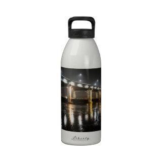 Bridge, Rain, Seoul Reusable Water Bottle
